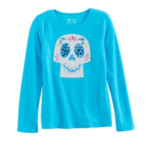 Disney / Pixar Coco Girls 4-7 Day of the Dead Sequin Graphic Tee by Jumping Beans®