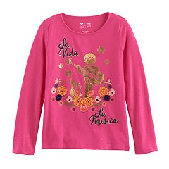Disney / Pixar Coco Girls 4-7 'La Vida La Musica' Graphic Tee by Jumping Beans®