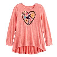 Disney / Pixar Coco Girls 4-7 Back Peplum Heart & Music Graphic Tee by Jumping Beans®