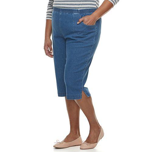 Plus Size Croft & Barrow® Simple Vented Capri Jeans
