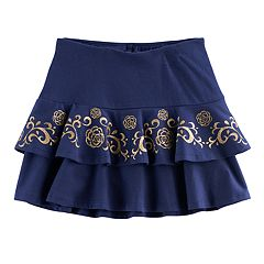 Disney / Pixar Coco Girls 4-7 Glittery Flower Tiered Skort by Jumping Beans®