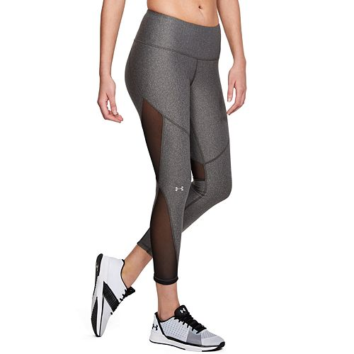 053a98b50563db Women's Under Armour HeatGear Mesh Mid-Rise Ankle Leggings