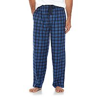 Big & Tall Chaps Plaid Microfleece Lounge Pants