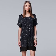Women's Simply Vera Vera Wang In the Clouds Short Sleeve Sleepshirt
