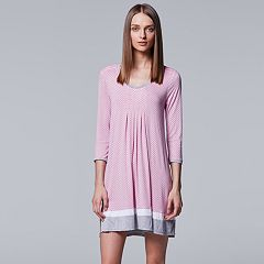 Women's Simply Vera Vera Wang In the Clouds 3/4 Sleeve Sleepshirt