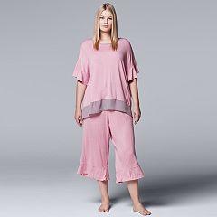Plus Size Simply Vera Vera Wang In the Clouds Short Sleeve Sleep Set