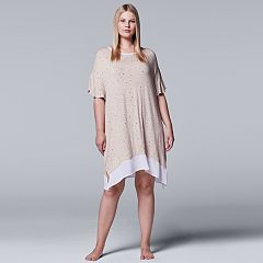 Plus Size Simply Vera Vera Wang In the Clouds Short Sleeve Sleepshirt