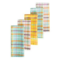 Celebrate Spring Together Woven Plaid Kitchen Towel 5-pk.