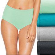 Hanes Ultimate 4 pk+ 1 Bonus Comfort Soft Brief Panties 46HUSB