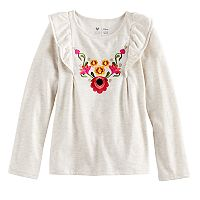 Disney / Pixar Coco Girls 4-7 Embroiderd Flowers Flutter Tee by Jumping Beans®