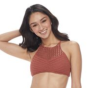 Mix and Match Crochet High-Neck Bikini Top