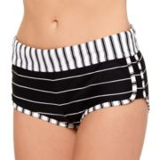 Juniors' Hot Water Striped Boyshort Bottoms