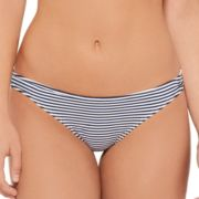 Juniors' Hot Water Striped Brazilian Bikini Bottoms
