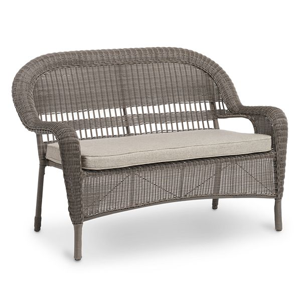 Sonoma Goods For Life Presidio Stacking Patio Wicker Loveseat
