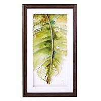 New View Palm Leaf 1 Framed Wall Art