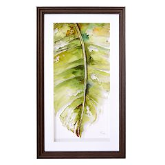 New View Palm Leaf 1 Framed Wall Art