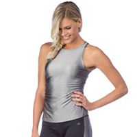 Women's PL Movement by Pink Lotus Shirred High Neck Yoga Tank