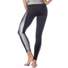 Women's PL Movement by Pink Lotus Active Shiny Inset Yoga Leggings