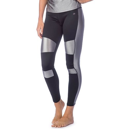 be27da289c96e Women's PL Movement by Pink Lotus Active Shiny Inset Yoga Leggings