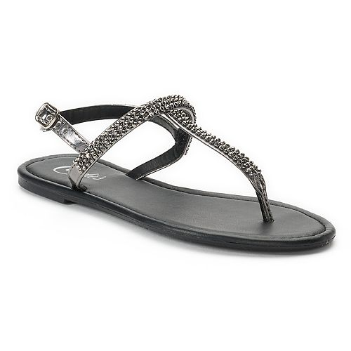 9fe85b2abab015 Women s Candie s® Bling T-Strap Sandals