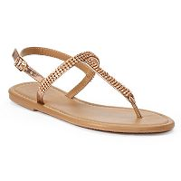 Women's Candies® Bling T-Strap Sandals