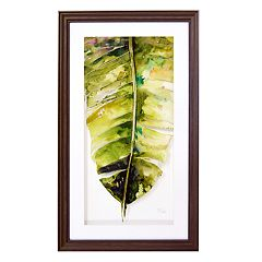 New View Palm Leaf 2 Framed Wall Art