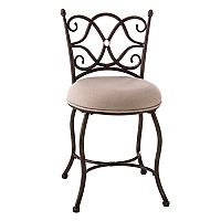 Hillsdale Furniture Brody Scroll Vanity Stool