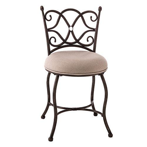 Hillsdale Furniture Brody Scroll Vanity Stool