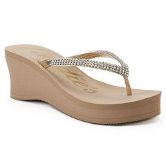 Candie's® Women's Bling Wedge Sandals
