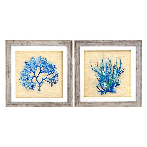New View Royal Coral Framed Wall Art 2-piece Set