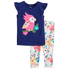 Girls 4-8 Carter's Toucan Applique Tee & Floral Leggings Set