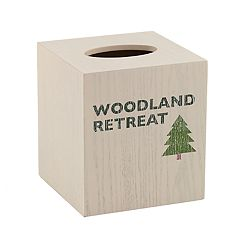 Avanti Cabin Words Tissue Box Cover