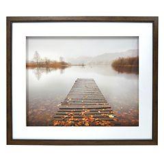 New View Lake Dock Framed Wall Art