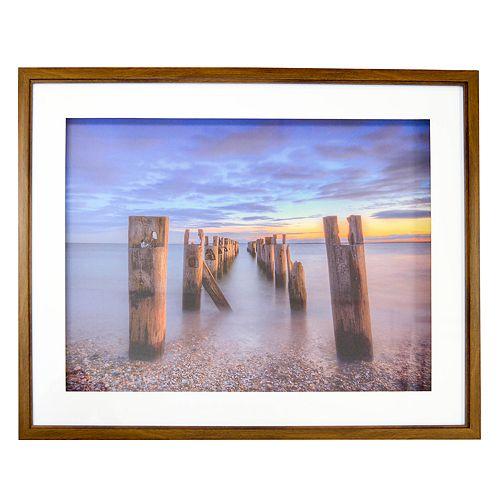 New View Sunset Shore Framed Wall Art
