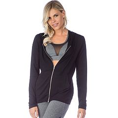 Women's PL Movement by Pink Lotus Cutout Back Zip-Up Hoodie