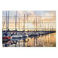 New View Docked Sailboats Wall Art