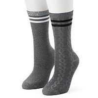 Women's Unionbay 2 pkCable Crew Socks