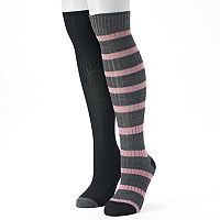 Women's Unionbay 2 pkRugby Striped Over-the-Knee Socks