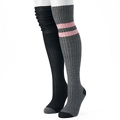 Women's Unionbay 2 pkVarsity Striped Over-the-Knee Socks