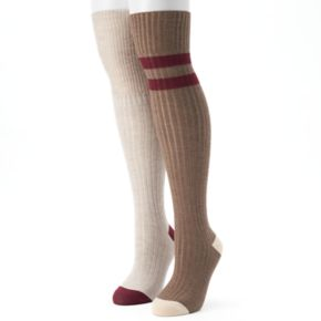 Women's Unionbay 2-pk. Varsity Striped Over-the-Knee Socks