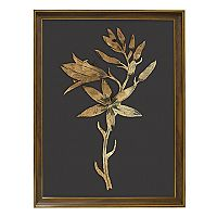 New View Metallic Botanical Flower Framed Wall Art