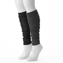 Women's Unionbay 2-pk. Pointelle Open-Work Legwarmers