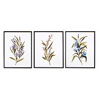 New View Floral Framed Wall Art 3-piece Set