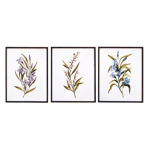 New View Floral Framed Wall Art 3-piece Set