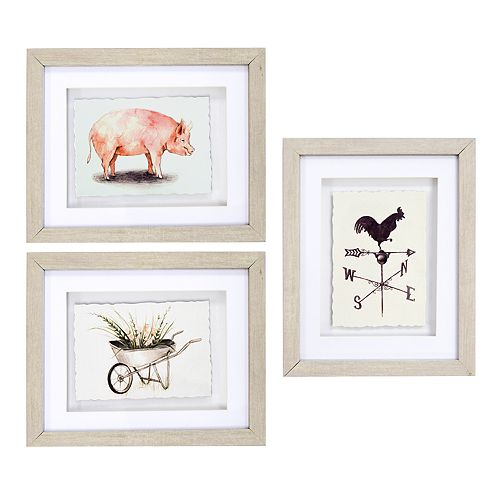 New View Farmhouse Framed Wall Art 3-piece Set