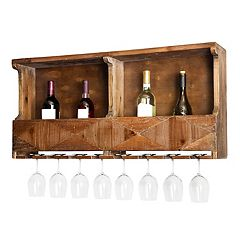 Alaterre Furniture Revive Farmhouse Wood Wine Rack