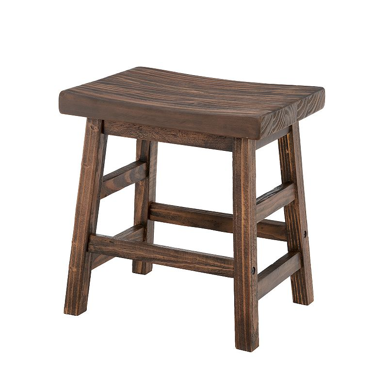 Accent your farmhouse decor with this Alaterre Furniture Pomona wood stool. Rustic style Distressed finish 14\\\'\\\'H x 19\\\'\\\'W x 18\\\'\\\'D Weight: 20 lbs. 20-in. seat height Weight limit: 350 lbs. Wood Wipe clean Assembly required Manufacturer\\\'s 1-year limited warrantyFor warranty information please click here Model no. AMBA2020  Size: One Size. Color: Brown. Gender: unisex. Age Group: adult.