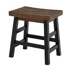 Alaterre Furniture Pomona Industrial Farmhouse Stool