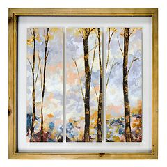 New View Birch Trees Framed Wall Art