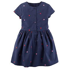 Girls 4-8 Carter's Heart Print Dress